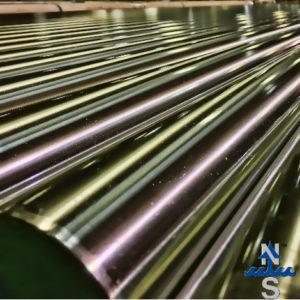 Case hardened linear shafting