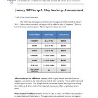 2019-01 NSC Surcharge Letter